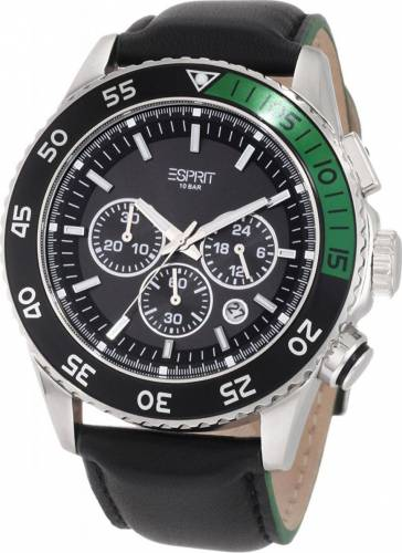 imagine 0 Ceas Barbatesc Esprit ES103621001 Silver-Black ES103621001