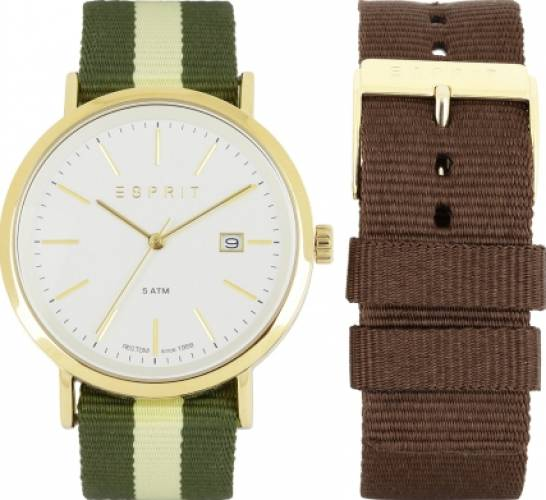 imagine 1 Ceas Barbatesc Esprit ES108361002 Gold-Green-Brown ES108361002