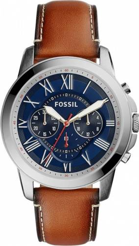 imagine 0 Ceas Barbatesc Fossil FS5210 Grant Silver Brown bsw_FS5210