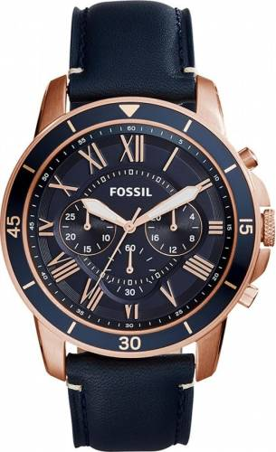 imagine 0 Ceas Barbatesc Fossil Grant Sport FS5237 Black-Gold FS5237