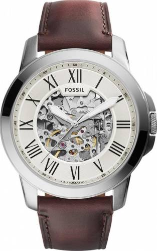 imagine 0 Ceas Barbatesc Fossil ME3099 Grant Silver Brown bsw_ME3099