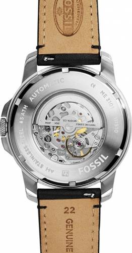 imagine 2 Ceas Barbatesc Fossil ME3101 Grant Silver Black bsw_ME3101