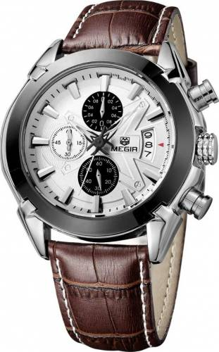 imagine 1 Ceas Barbatesc Megir Chronograph Casual ML2020GBN7 Maron ceas023