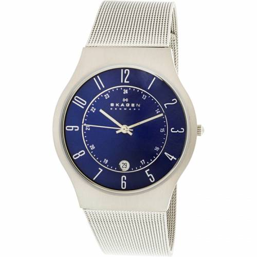 imagine 1 Ceas barbatesc Skagen 233XLTTN Albastru Titan Quartz are233xlttn