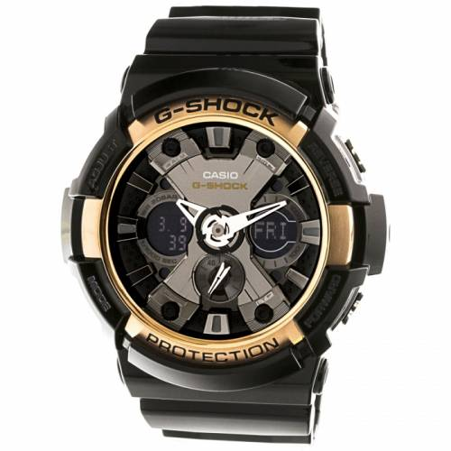 imagine 1 Ceas Casio barbatesc G-Shock GA200RG-1A negru Resin Quartz arega200rg-1a