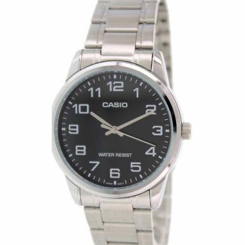 imagine 1 Ceas Casio barbatesc MTPV001D-1B argintiu Metal Quartz Fashion aremtpv001d-1b