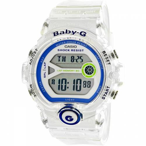 imagine 1 Ceas Casio dama Baby G BG6903-7D alb Rubber Quartz arebg6903-7d