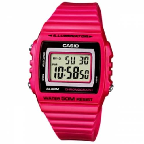 imagine 1 Ceas dama CASIO Mod. - W-215H-4 - Roz rasina Quartz wwtw-215h-4