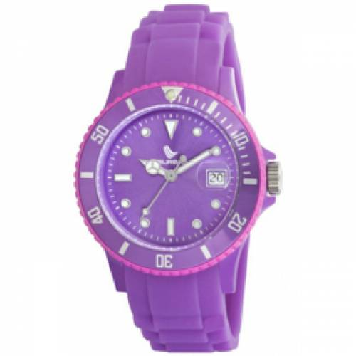 imagine 1 Ceas dama LAURENS SPORT SUBMARINER DATE - LS 27019II - violet silicon Quartz wwtls 27019ii