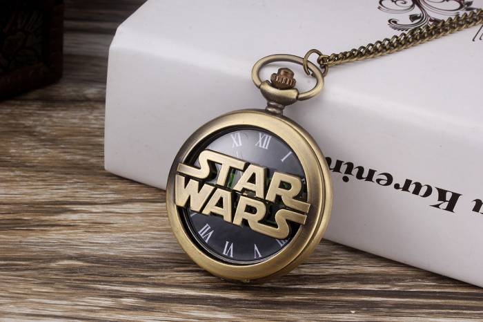imagine 1 Ceas de buzunar Star Wars Style model Retro Vintage. cs596 cs596