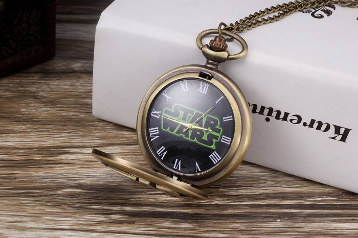 imagine 3 Ceas de buzunar Star Wars Style model Retro Vintage. cs596 cs596