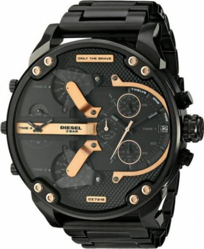 imagine 1 Ceas Diesel barbatesc Mr. Daddy DZ7312 negru Stainless-Steel Quartz aredz7312