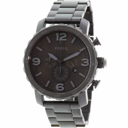 imagine 1 Ceas Fossil barbatesc Nate JR1401 negru Stainless-Steel Quartz arejr1401