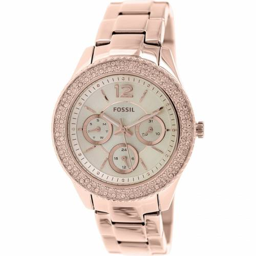 imagine 1 Ceas Fossil dama Stella ES3590 auriu roze-auriu Stainless-Steel Quartz arees3590