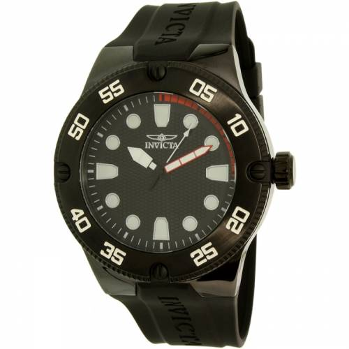 imagine 1 Ceas Invicta barbatesc Pro Diver 18026SYB negru Silicone Quartz are18026syb