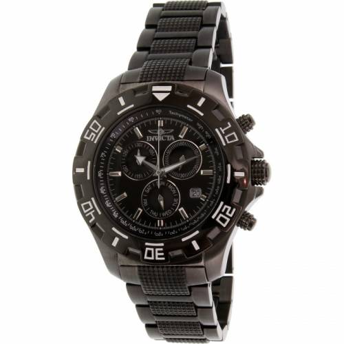 imagine 1 Ceas Invicta barbatesc Specialty 6412 negru Stainless-Steel Swiss Chronograph are6412