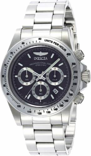 imagine 1 Ceas Invicta barbatesc Speedway Chronograph 9223 negru Stainless-Steel Quartz are9223