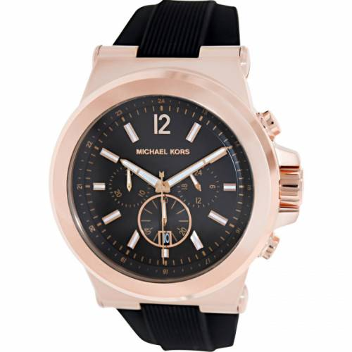 imagine 1 Ceas Michael Kors barbatesc Dylan MK8184 negru Rubber Quartz aremk8184