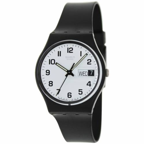 imagine 1 Ceas Swatch barbatesc Irony GB743 negru Rubber Quartz aregb743