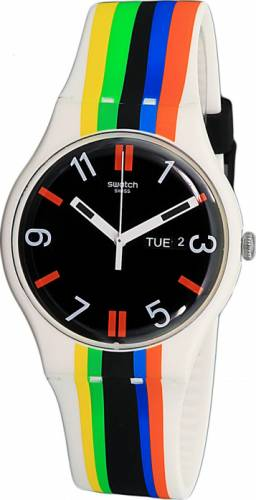 imagine 1 Ceas Swatch barbatesc Ligne De Fuite SUOW708 multicolor Rubber Quartz aresuow708