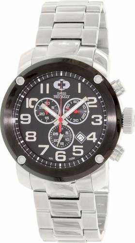 imagine 1 Ceas Swiss Precimax barbatesc Marauder Pro SP13012 argintiu Quartz aresp13012