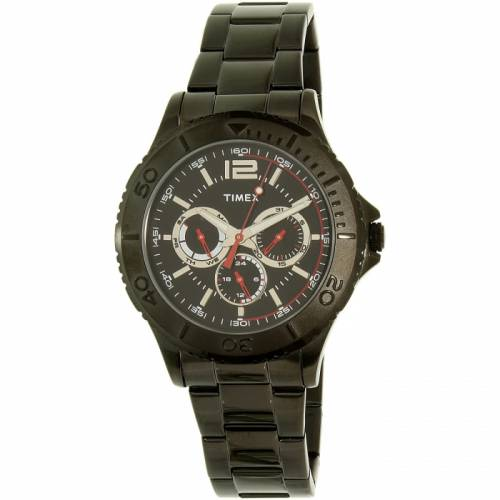 imagine 1 Ceas Timex barbatesc TW2P87700 negru Stainless-Steel Quartz aretw2p87700