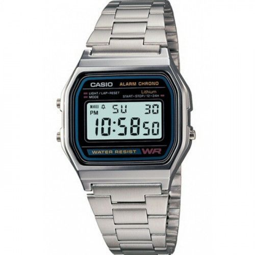 imagine 0 Ceas barbatesc Casio A158W Argintiu Otel Quartz wwta158w