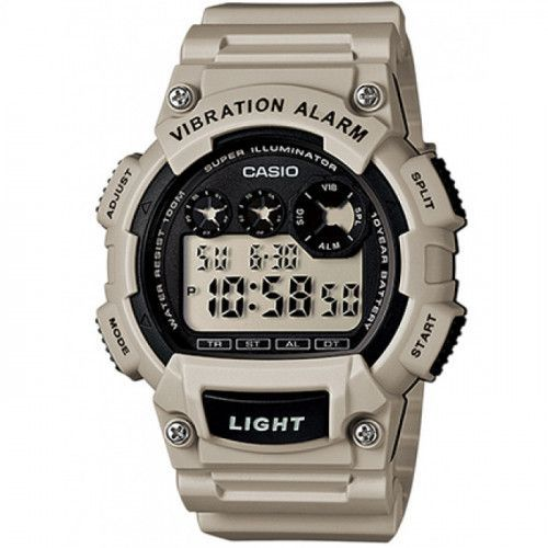 imagine 0 Ceas barbatesc CASIO Mod. - W-735H-8A2 - Bej rasina Quartz wwtw-735h-8a2