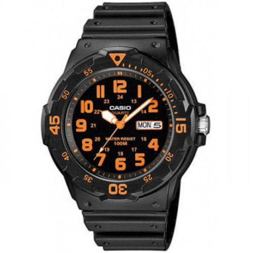 imagine 0 Ceas barbatesc Casio MRW200H4 Negru Rasina Quartz wwtmrw-200h-4