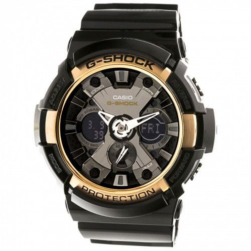 imagine 0 Ceas Casio barbatesc G-Shock GA200RG-1A negru Resin Quartz arega200rg-1a
