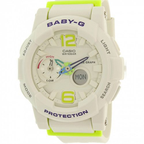imagine 0 Ceas Casio dama Baby-G BGA180-7B2 alb Rubber Quartz arebga180-7b2
