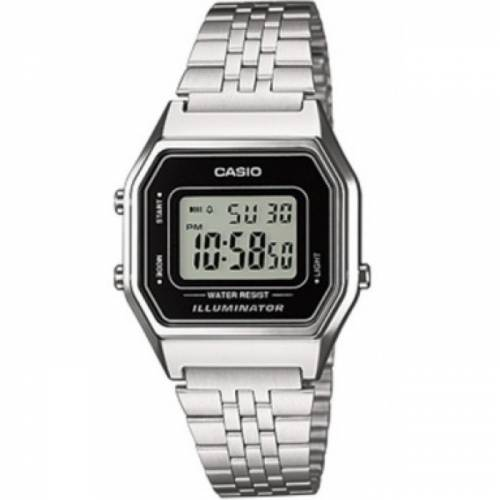 imagine 0 Ceas CASIO LA-680WA-1 Illuminator- Argintiu Otel Quartz wwtla-680wa-1