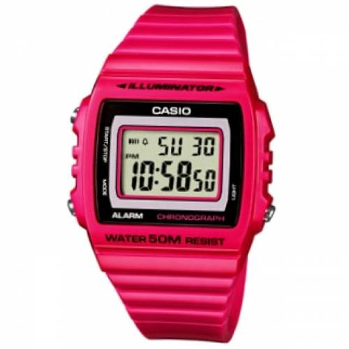 imagine 0 Ceas dama CASIO Mod. - W-215H-4 - Roz rasina Quartz wwtw-215h-4