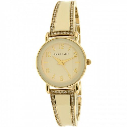 imagine 0 Ceas de Dama Anne Klein AK-2052IVST Bej Metal Analog Quartz areak-2052ivst