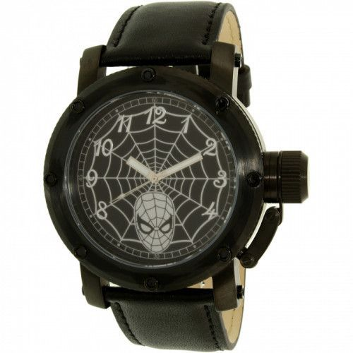 imagine 0 Ceas Disney barbatesc Spider-Man SPM149 negru Leather Quartz arespm149
