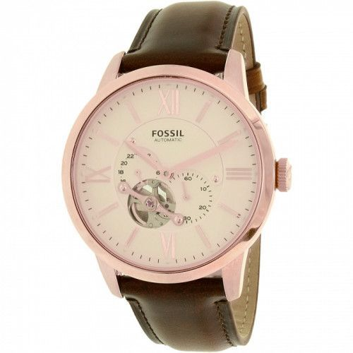 imagine 0 Ceas Fossil barbatesc Townsman ME3105 auriu roze auriu Leather Automatic Dress areme3105