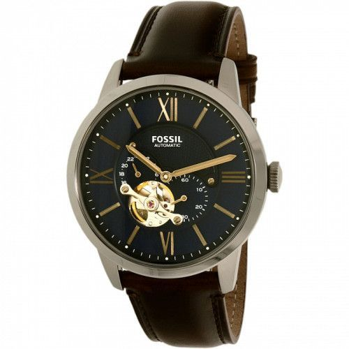 imagine 0 Ceas Fossil barbatesc Townsman ME3110 maro Leather Automatic areme3110