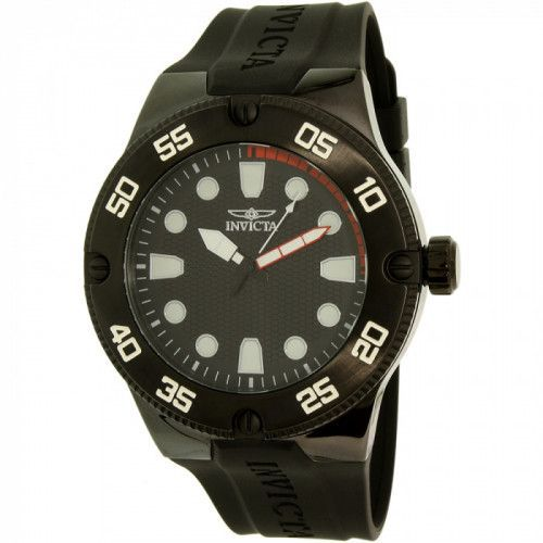 imagine 0 Ceas Invicta barbatesc Pro Diver 18026SYB negru Silicone Quartz are18026syb