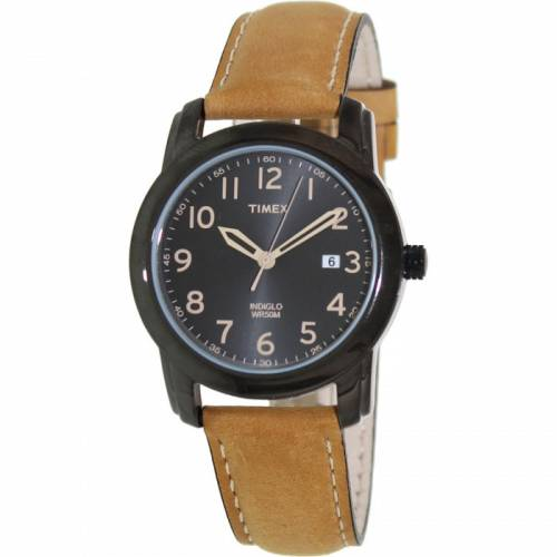 imagine 0 Ceas Timex barbatesc Elevated Classics T2P133 negru Leather Analog Quartz aret2p133