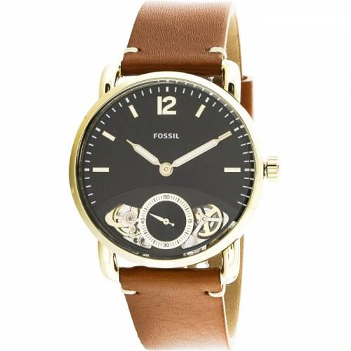 imagine 0 Ceas unisex Fossil The Commuter Twist ME1166 Maro Piele Automatic areme1166