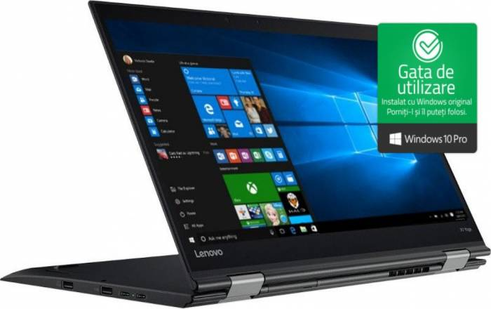 imagine 0 Laptop 2in1 Lenovo X1 Yoga Gen 2 Intel Core i7-7500U 512GB 8GB Win10 Pro WQHD Fingerprint lnv20jd002kri
