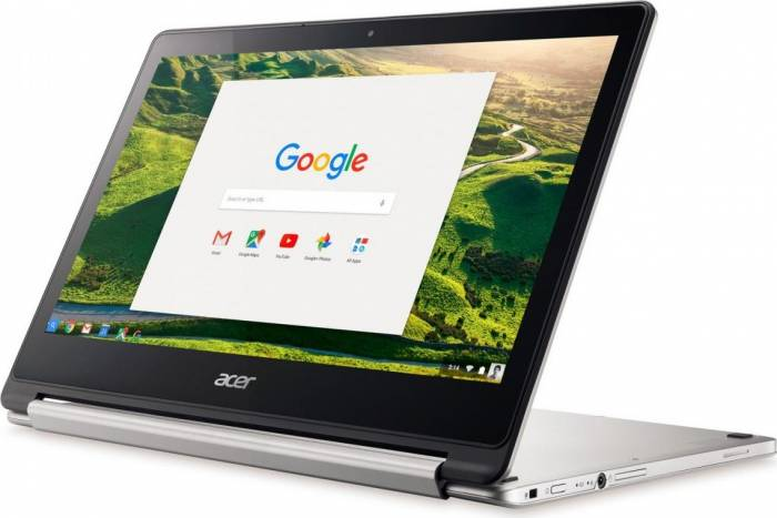 imagine 0 Laptop 2in1 Acer Chromebook R CB5-312T Media Tek MT8173 64GB eMMC 4GB FullHD Argintiu nx.gl4ex.002