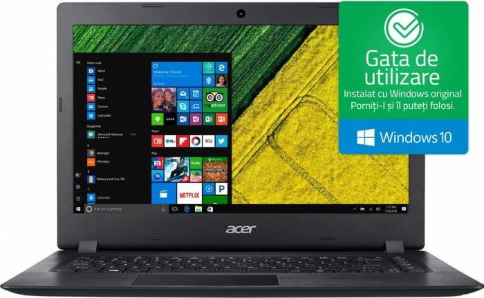 imagine 0 Laptop Acer Swift 1 Intel Celeron Braswell N3060 64GB eMMC 4GB HD Win10 Negru nx.shwex.016
