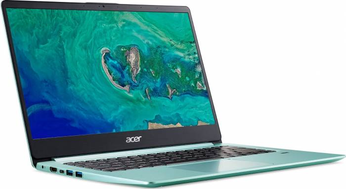 imagine 2 Laptop Acer Swift 1 SF114-32 Intel Pentium Gemini Lake N5000 128GB 4GB FullHD Tastatura iluminata Verde nx.gzgex.003