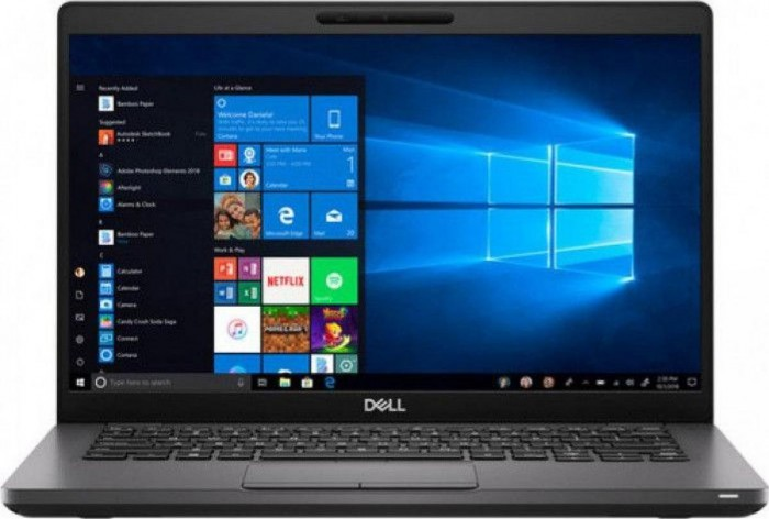 imagine 0 Laptop Dell Latitude 5400 Intel Core (8th Gen) i5-8265U 256GB SSD 8GB FullHD Win10 Pro Tastatura iluminata QCA61x4A Black 1000033663