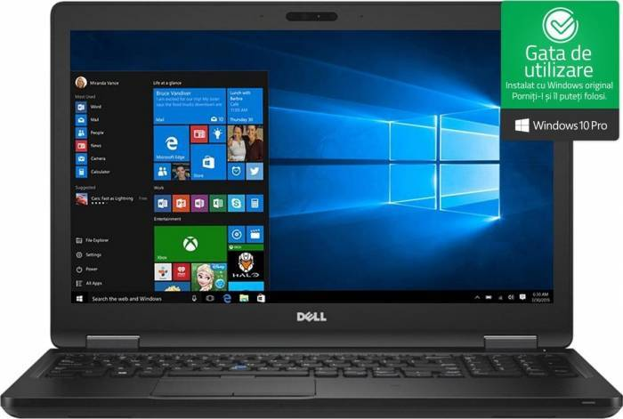 imagine 0 Laptop Dell Latitude 5590 Intel Core Kaby Lake R (8th Gen) i5-8250U 256GB SSD 8GB Win10 Pro FullHD Tastatura ilum. n062l559015emea