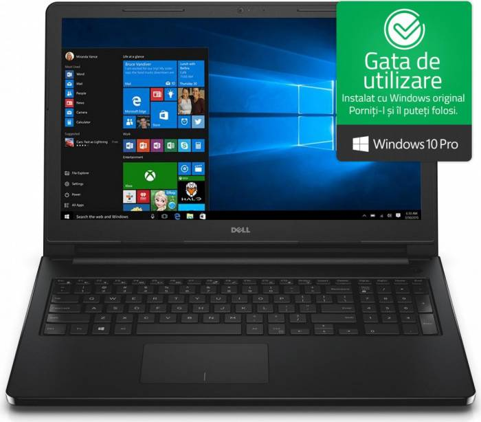 imagine 0 Laptop Dell Vostro 3578 Intel Core Kaby Lake R (8th Gen) i5-8250U 256GB SSD 8GB AMD Radeon 520 2GB Win10 Pro FullHD n2072wvn3578emea01