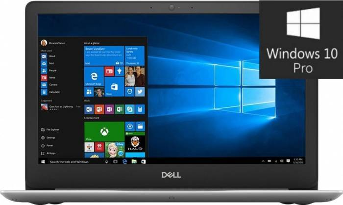 imagine 0 Laptop Dell Vostro 5370 Intel Core Kaby Lake R (8th Gen) i5-8250U 256GB SSD 8GB AMD Radeon M530 2GB Win10 Pro FullHD 1000030366