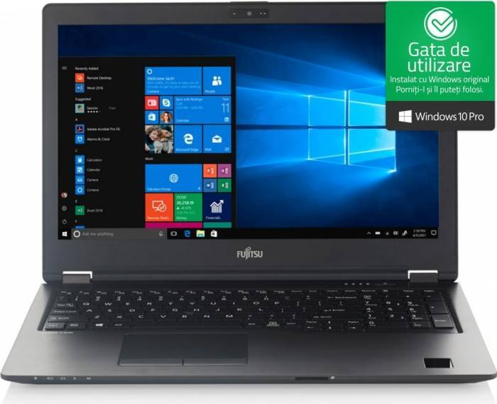 imagine 0 Laptop Fujitsu Lifebook U758 Intel Core Kaby Lake R (8th Gen) i5-8250U 256GB 8GB Win10 Pro FullHD 1000028827