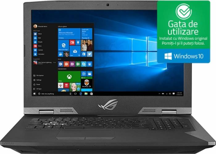 imagine 0 Laptop Gaming Asus G703GI Intel Core Coffee Lake (8th Gen) i7-8750H 1TB HDD+256GB SSD 32GB nVidia GTX1080 8GB Win10 g703gi-e5036t